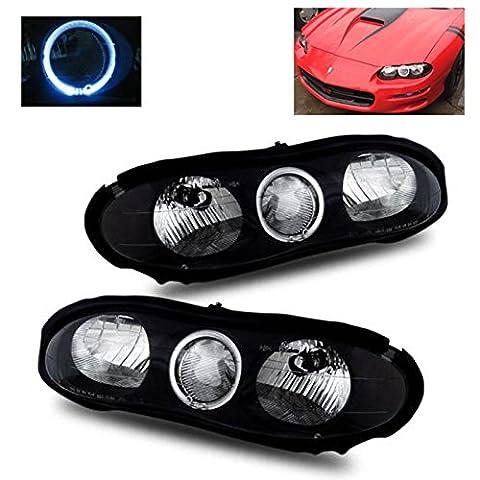SPPC Headlights Halo Black For Chevy Camaro - (Pair) - 2000 Camaro Headlights