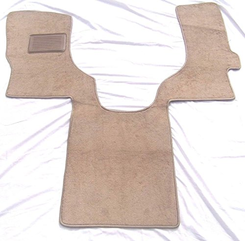 Carpet Replacement Ford - Downard Automotive Aftermarket Mats Compatible Ford Econoline/E-Series Floor Mat Carpet Custom Fit Replacement Beige/Tan 1 PC Front - Serged Edges & Heel Pad- Fits 2006-2017