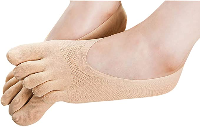RISTHY Calcetines de Algodón Cinco Dedos Calcetines Mujer Color Sólido Algodón Calcetines Mujer Antideslizante Invisible Calcetines Cortos Respirable Calcetines Tobilleros Calcetines: Amazon.es: Ropa y accesorios