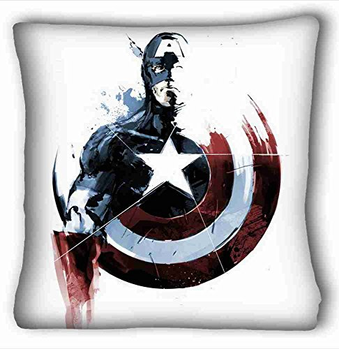 Price comparison product image Custom Characteristic ( Captain America ) Soft Pillow Case Cover 26*26 Inch (One Sides)Zippered Pillowcase suitable for Full-bed