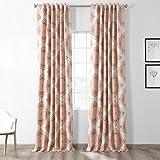red patterned curtains  BOCH-KC27-84 Henna Blackout Room Darkening Curtain, 50 X 84