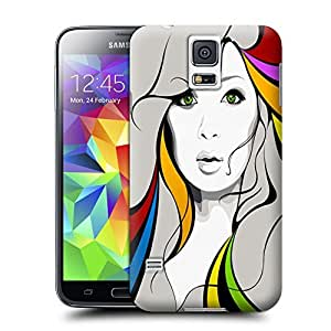 Unique Phone Case Painting Figure Sparkle Hard Cover for samsung galaxy s5 cases-buythecase