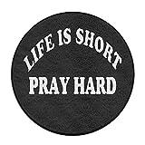 PJO6mat Life is Short Play Hard1 Welcome Antislip Carpet Shoe Scraper Rug