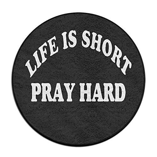 PJO6mat Life is Short Play Hard1 Welcome Antislip Carpet Shoe Scraper Rug by PJO6mat