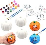 BEIGUO Kids Crafts Paint Your Own Squishy Pumpkin 6 Pack Slow Rising Halloween Pumpkin with Decorating Sticker