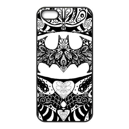 Batman coque iPhone 5 5S Housse téléphone Noir de couverture de cas coque EBDOBCKCO09767