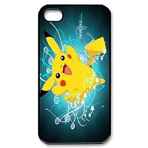FOR Iphone 4 4S case cover -(DXJ PHONE CASE)-Cute Cartoon Pikachu-PATTERN 9
