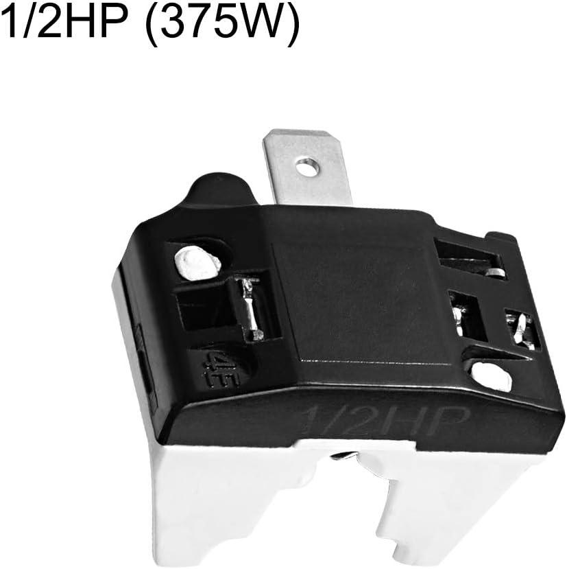 Sourcingmap K/ühlschrank-/Überlastschutz Kompressor-Ersatzteil 1//5 PS 1//2HP 375W