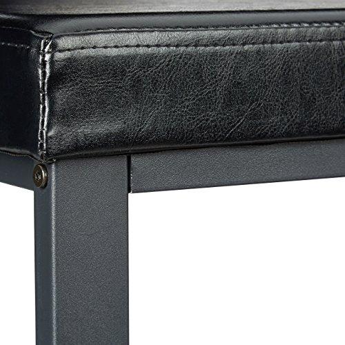 Relaxdays Schuhbank, offen, für 6-8 Paar Schuhe, Schuhregal zum Sitzen, Polsterung aus Kunstleder, HxBxT 49 x 81 x 32 cm, auf 2 Etagen, schwarz Schwarz