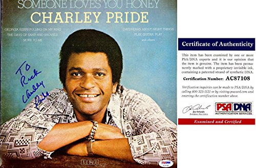 Charley Pride Signed - Autographed Album Cover with Certificate of Authenticity (COA) with LP Vinyl Record Album - Personalized To Rick - PSA/DNA Certified