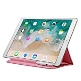 Sammid iPad 9.7 inch 2018 Sleeve Case, Sleeve iPad Case with Pencil Holder, Ultra-Thin Microfiber Lining Tri-fold Stand Pouch Protective Cover Case for 2017/2018 iPad 9.7 inch - Pink