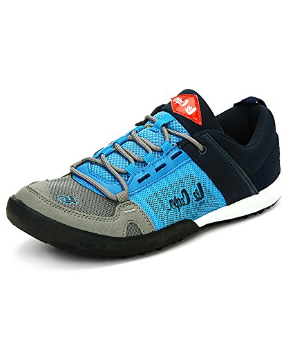 Grey, Blue and Black Running Shoes