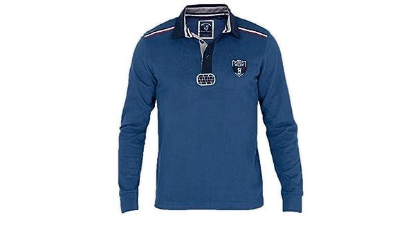 Shilton Polo para hombre Rugby Team Francia Team manga larga ...