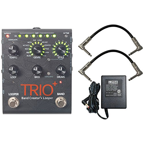 Digitech Trio+ Band Creator + Looper w/ Patch Cables and Power Supply -  TRIOPLUS-UK3