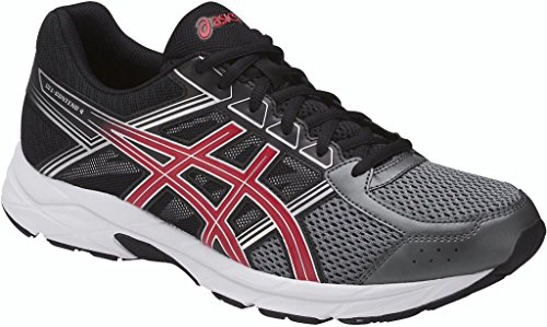 Image of the ASICS Mens Gel-Contend 4 Running Shoe, Carbon/Classic Red/Black, 11 Medium US