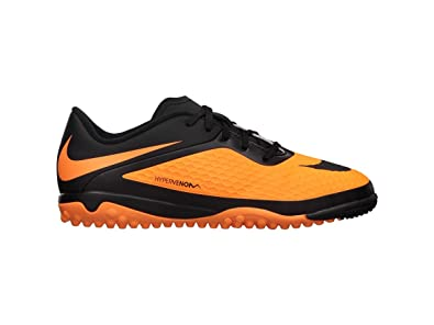 Nike Youth Hypervenom Phelon Turf Men s and Women s Black Football Shoes -  2Y  Buy Online at Low Prices in India - Amazon.in 8ed2557e30