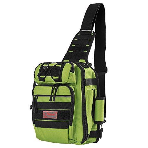 Fiblink Waterproof Sports Single Shoulder Fishing Tackle Bag Backpack or Handbag Chest Daypack...