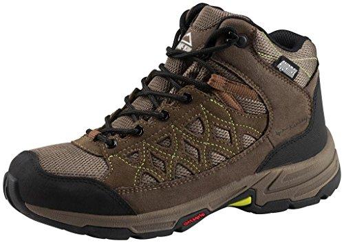 Multi de zapatos Cisco Hiker MID AQX W–Oliva/marrón/amarillo, OLIVE/BRAUN/GELB