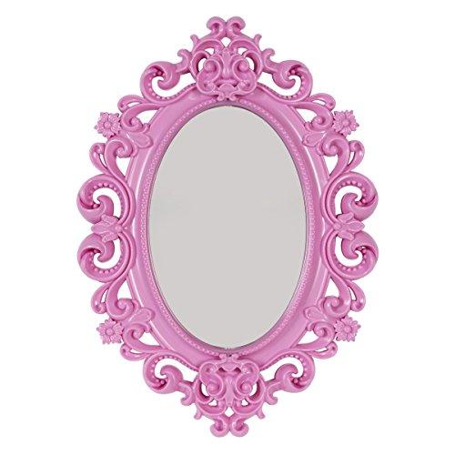 Accessory Mirror - Baroque Magnetic School Locker Mirror/Office Locker Mirror/Room Mirror - Must Have Locker Accessory/Decoration (Pink)