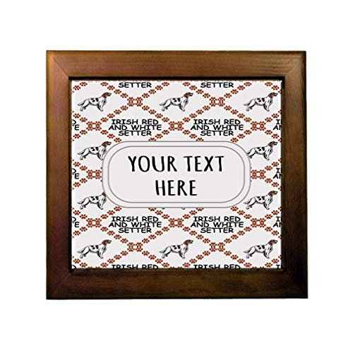 Ceramic Tile in Wood Frame Custom Irish Red and White Setter Dog Pattern C Adults (Irish Red And White Setter For Sale)