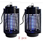 2 Electric Mosquito Fly Bug Insect Zapper Killer Trap Lamp 110V Stinger Pest Hight Savety