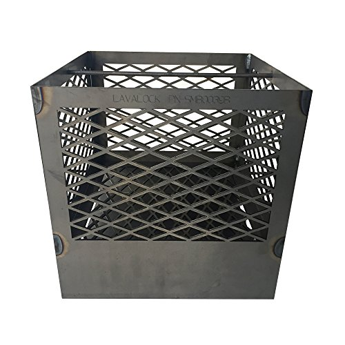(LavaLock UDS 55 Gallon charcoal firebox basket for Ugly Drum Smoker WITH legs and ash pan)