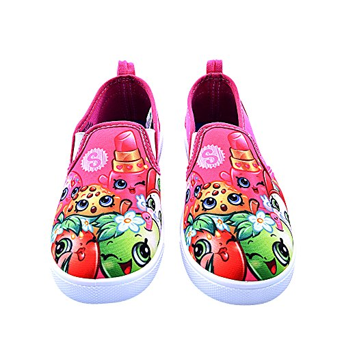 Shopkins Girls Slip-on Canvas Shoes, Size 3