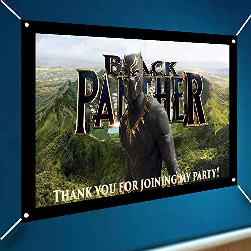 Black Panther Movie Avengers Large Vinyl Indoor Outdoor Wakanda Background Banner Sign Poster Backdrop Decoration, 13 Oz Vinyl, Wind & Waterproof, 30