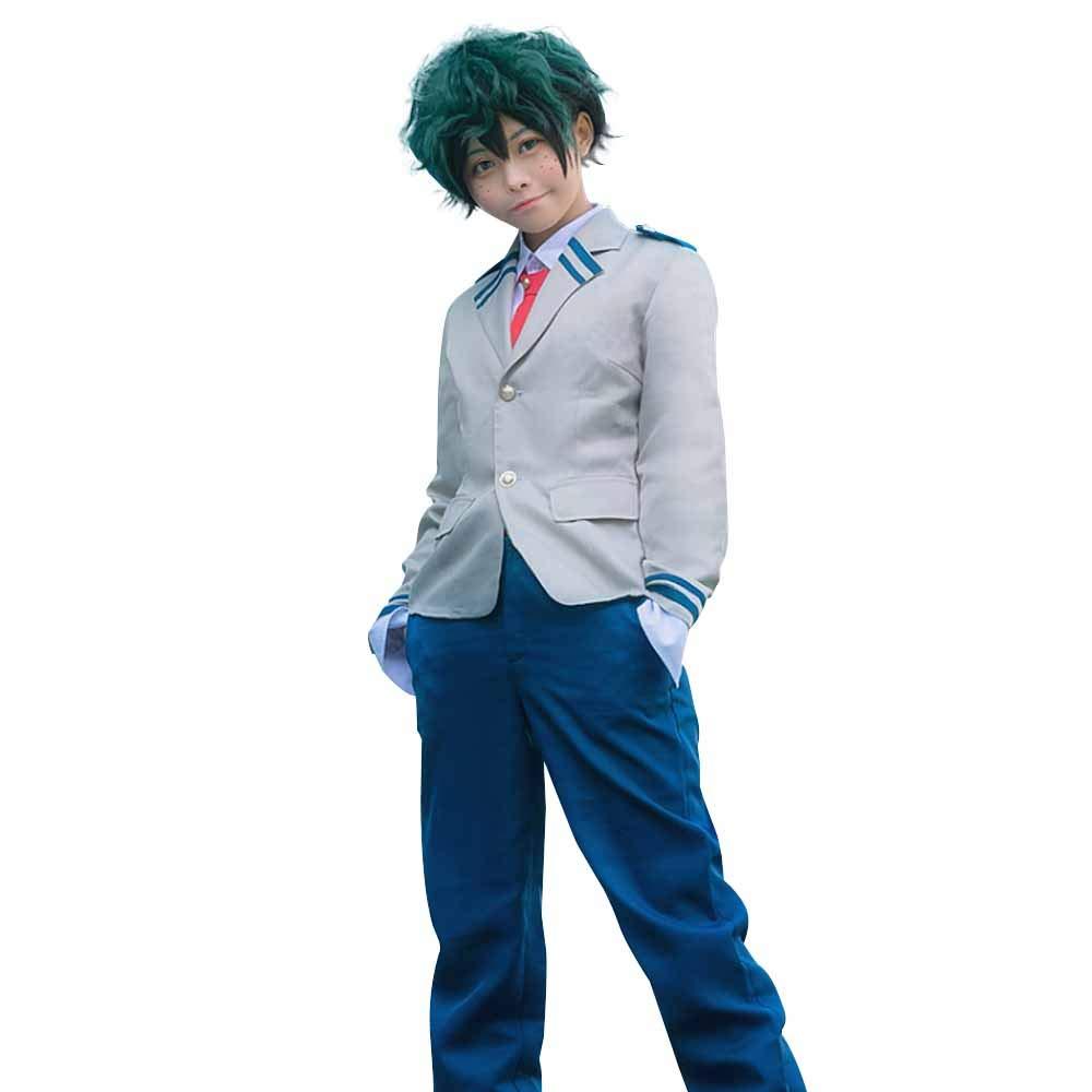 Anime Cosplay My Hero Academia Ochaco Uraraka/Izuku Blazer Cosplay Costume School Girls Boys Uniform Costume (Pants Set, S/Waist 24.41'')