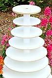 Wood Cupcake Stand 7 Tier White Melamine Donut Stand Wedding Birthday Display
