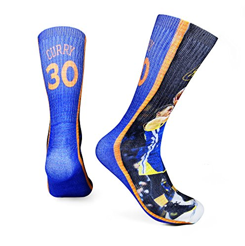 189d31e8402a Forever Fanatics Golden State Steph Curry  30 Basketball Crew Socks ✓ Stephen  Curry Autographed ✓ One ...