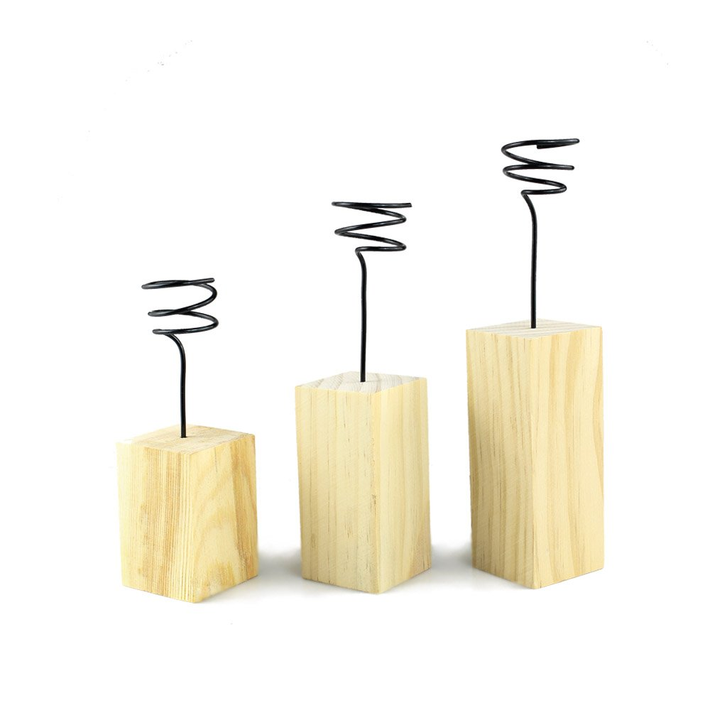Danmu Art 3pcs (3 sizes) Wood Stand Air Plant Holder Airplant Container Tabletop Planter Tillandsia Planter