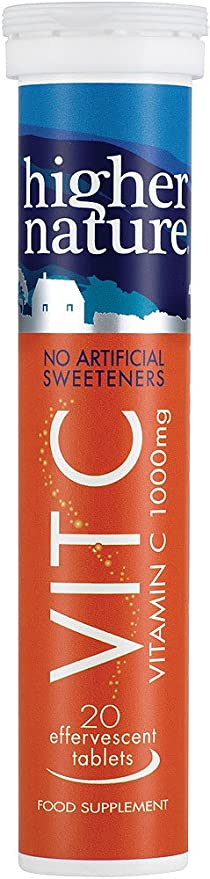 Higher Nature Fizzy C – Vitamina C efervescente – 20 comprimidos.