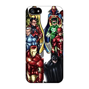 Awesome Avengers And Jla Flip Cases With Fashion Design For Iphone 5/5s