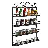 Corgy Kitchen Condiments Storage Shelves Durable Multifunctional Metal 4 Shelf Tie Racks Organizers