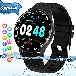 Peakfun Smart Watch,Fitness Tracker Watch with Heart Rate Blood Pressure Monitor IP67 Waterproof Bluetooth Smartwatch…