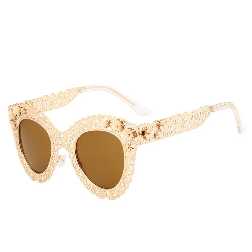 Yangjing-hl Gafas de Sol Retro de Encaje Calado, Gafas de ...