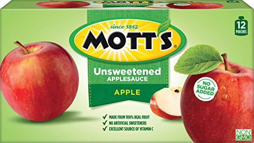 (Mott's Unsweetened Applesauce, 3.2 Ounce Pouch, 12 Count)