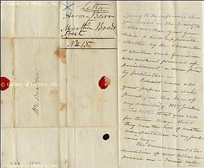 Vice President Aaron Burr - Autograph Letter - Signed June 23