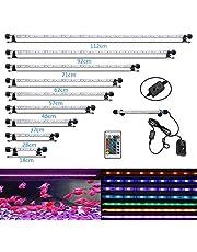 MLJ LED Aquarium Lighting for Fish Tank, Waterproof Amphibious Light White & Blue/RGB, 9 Sizes (48cm, RGB)