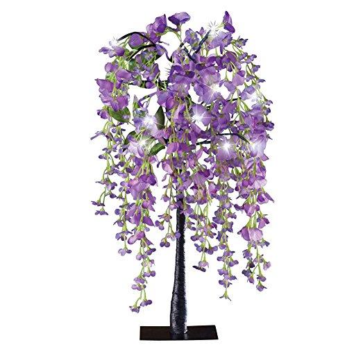 Lighted Purple Wisteria Tabletop Tree