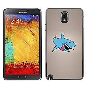 LECELL -- Funda protectora / Cubierta / Piel For Samsung Galaxy Note 3 N9000 N9002 N9005 -- Funny Laughing Shark --
