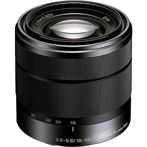 Sony Alpha SEL1855 E-mount 18-55mm F3.5-5.6 OSS Lens (Black)