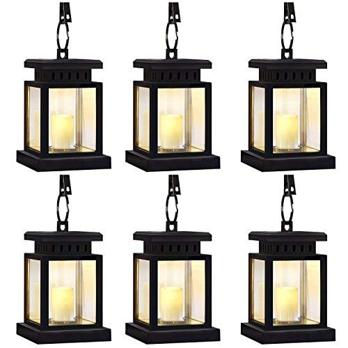 Garden Solar Lights,Flickering Flameless Smokeless Candle Lantern,Decoration for Garden Patio Deck Yard Fence Driveway Lawn - 6 Pack [並行輸入品] B07R8PRZMD