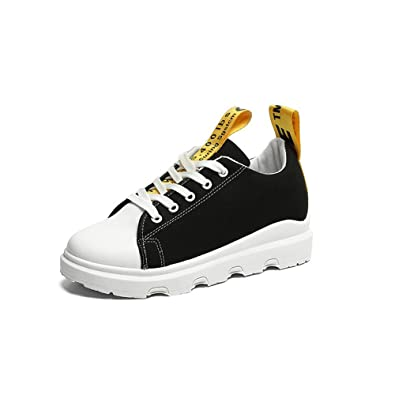 dde0a4d303f9 Womens Color Accent Low Top High-Fashion Sneaker Trainers(Black 36 5 B