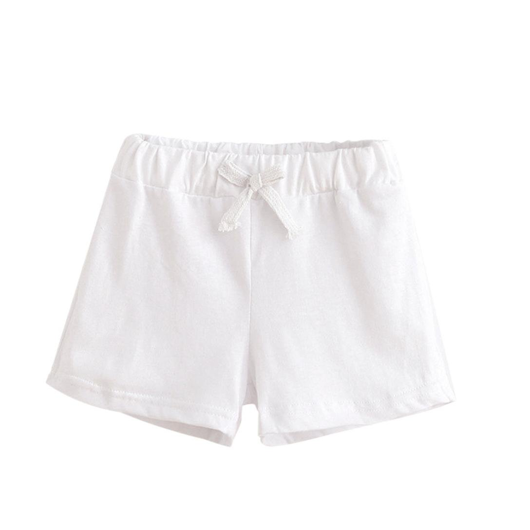 (5T, White) - Cotton Fashion Pants,BeautyVan Fashion Cartoon Summer Children Cotton Shorts Boys And Girl Fashion Pants (5T, White) 5T ホワイト B071W7XHBP