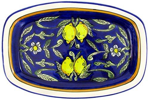 Le Souk Ceramique CQ29 Stoneware Rectangular Platter, Citronique