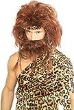 Rubie's Bushy Caveman Short Beard and Wig Set, Brown, One Size