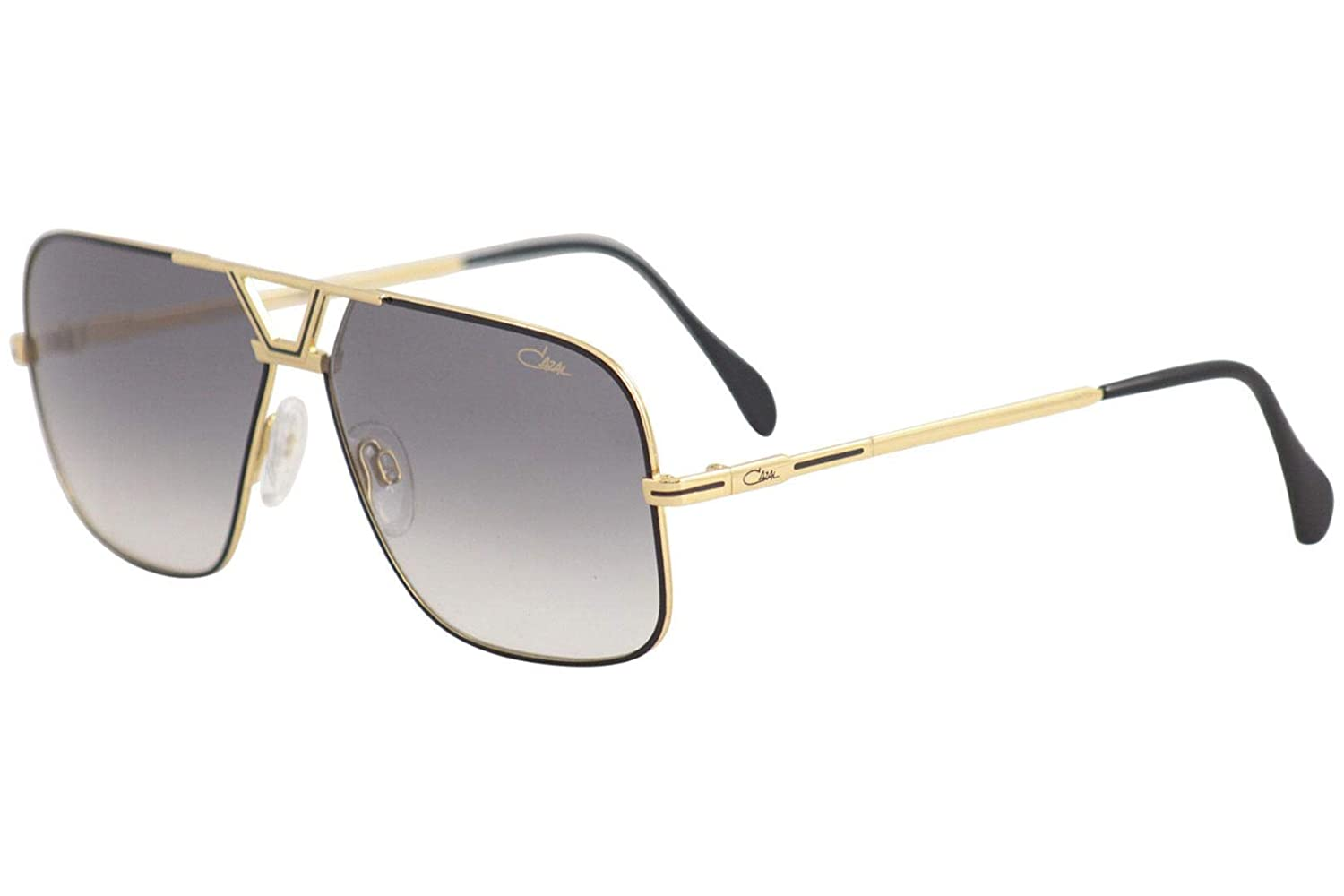3a408d798ed8 Amazon.com  Cazal Legends 725 002SG Black Gold Metal Aviator Sunglasses  Grey Gradient Lens  Clothing