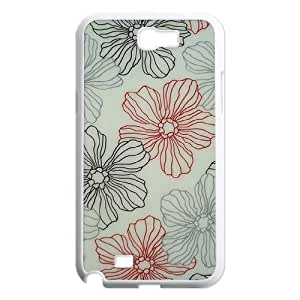 Pink Floral Original New Print DIY Phone Case for Samsung Galaxy Note 2 N7100,personalized case cover ygtg570463